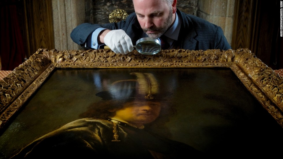 A painting donated to Britain's National Trust three years ago has been identified as a self-portrait of Dutch artist Rembrandt van Rijn.
