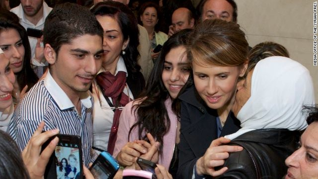 Al-Assad's wife ventures out to opera