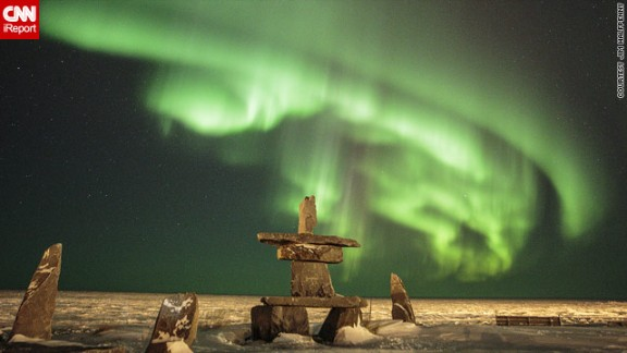 """2013 has proved a bumper year for sightings of the northern lights, due to a peak in the 11-year solar cycle. In this image taken earlier this month by Jim Halfpenny in Churchill, Manitoba, Canada, they appear to <a href=""""http://ireport.cnn.com/docs/DOC-943161"""">float above some stones</a>."""