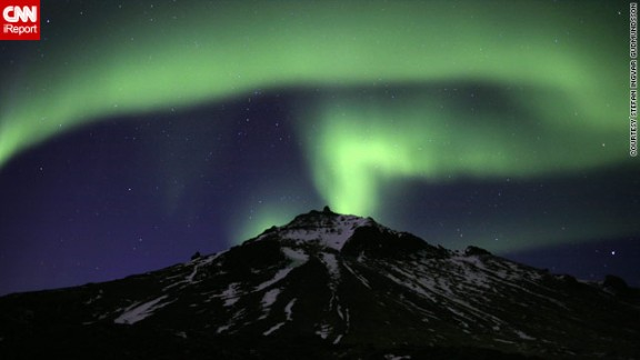"""""""It's always a big 'wow' but last night was overwhelming,"""" Gudmundsson said. """"The night sky was totally electrifying, with aurora everywhere."""""""
