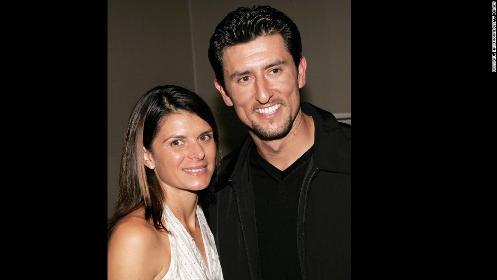 Football star Mia Hamm and baseball player Nomar Garciaparra married in 2003 and have two twin girls in 2007.