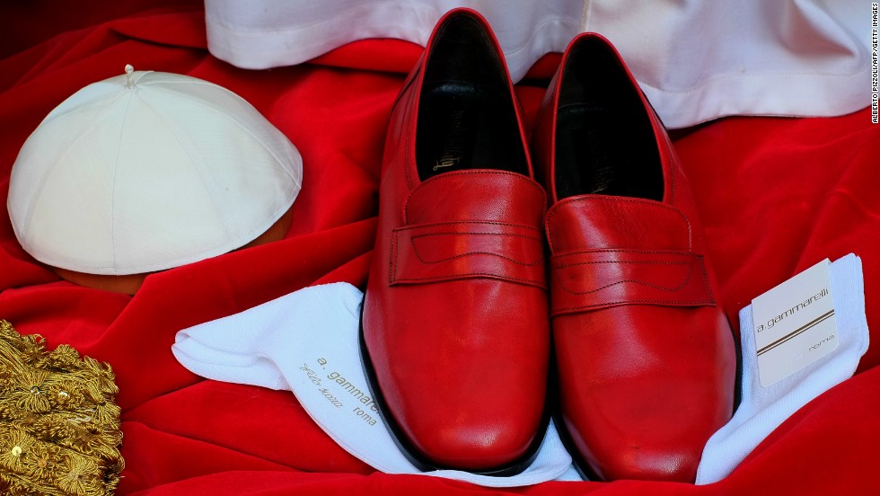 Red shoes are worn by the pope, but not many recent popes have opted for them. Benedict XVI brought them back, Beck said. Some people say the red is symbolic of the blood of martyrs, but that's not necessarily historically accurate, he said.