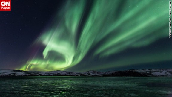 """Iceland, due to its northern location, dark winters and lack of light pollution, is perfectly equipped to see the best of the northern lights, as shown in this <a href=""""http://ireport.cnn.com/docs/DOC-943513"""">stunning photo</a> by Kristjan S Kristjansson, shot from Lake Kleifarvatn on the Reykjanes Peninsula."""