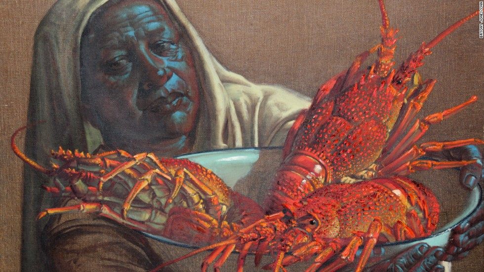 "Several of Tretchikoff's lesser-known works, including ""Lady with Crayfish"" (1951) will also go under the hammer at the sale."