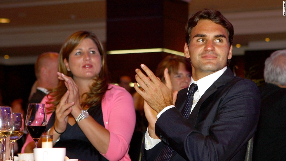 Roger Federer met his wife Mirka while both were competing for Switzerland at the 2000 Olympics. Injury forced her to retire from tennis in 2002, since when she has worked as the 17-time grand slam winner's PR manager.
