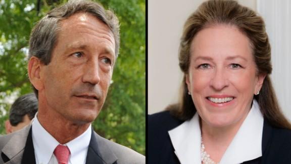 Former South Carolina Gov. Mark Sanford, left, and Elizabeth Colbert Busch, are running for Congress in the South Carolina.