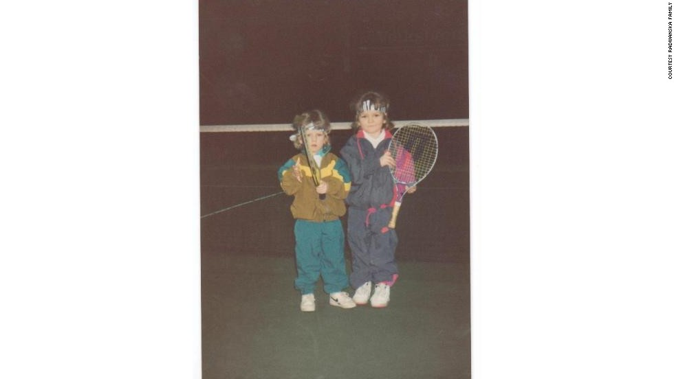 Both learned tennis from an early age, with Agnieszka and Urszula starting at  5 and 4 respectively.