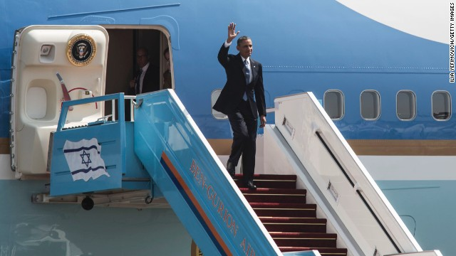 Obama arrives in Israel for first visit as president