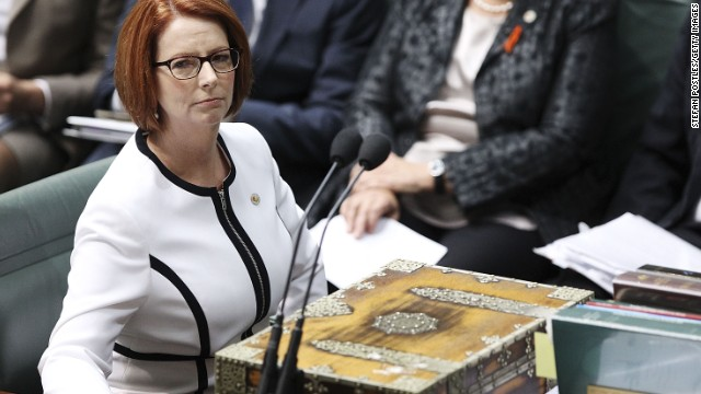 Prime Minister Julia Gillard during House of Representatives question time on March 21, 2013 in Canberra, Australia.