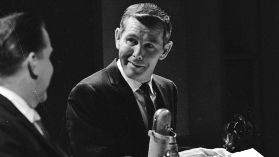 """Johnny Carson's 30 years as a host of """"The Tonight Show"""" made him a talk show icon. Carson, who hosted from 1962 to 1992, set the standard for late night show formats and style. Here, Carson speaks to a guest in 1964."""