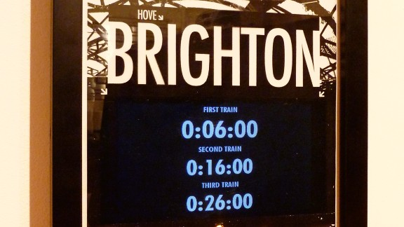 "Gareth James built this stylish, personalized train departures board to keep him informed of the times of the next trains to Brighton, UK. ""It"