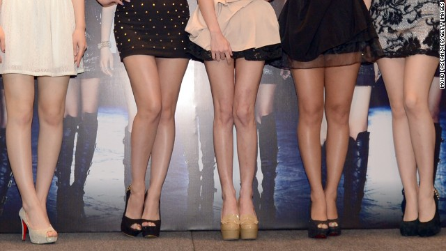 'No pants' no more? South Koreans are worried pop girl groups, like T-ara shown here, may have to add to their wardrobe.
