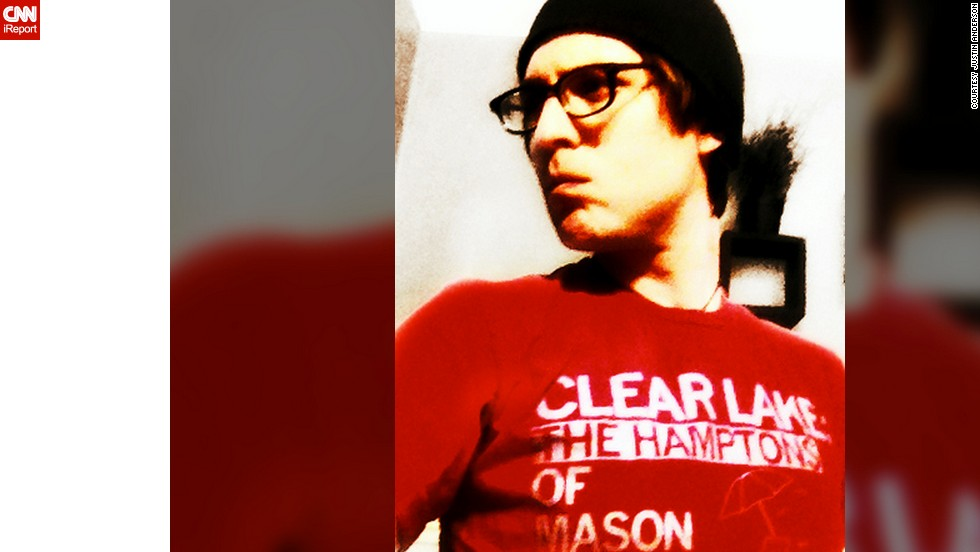 "Clear Lake, Iowa, resident <a href=""http://ireport.cnn.com/docs/DOC-928562"">Justin Anderson</a> bought his ""Clear Lake: The Hamptons of Mason City"" T-shirt in the spring of 2011. ""It says that I'm proud of my home."""