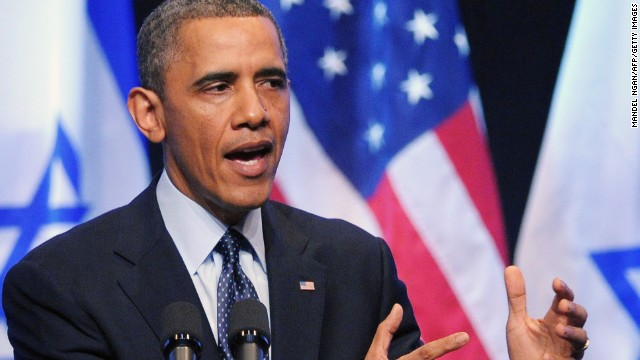 Obama: 'We cannot give up' on peace
