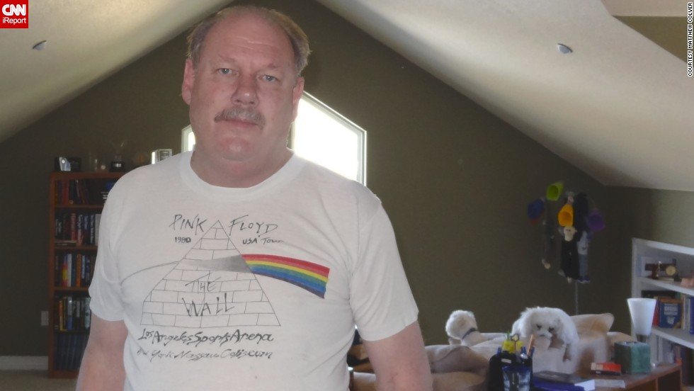"In 1980, <a href=""http://ireport.cnn.com/docs/DOC-928482"">Matthew Colver </a>went to a Pink Floyd concert where he bought this shirt from their Wall Tour. Decades later, he still wears it occasionally. ""The T-shirt to me says that I may be old, but still like rock concerts,"" he said."