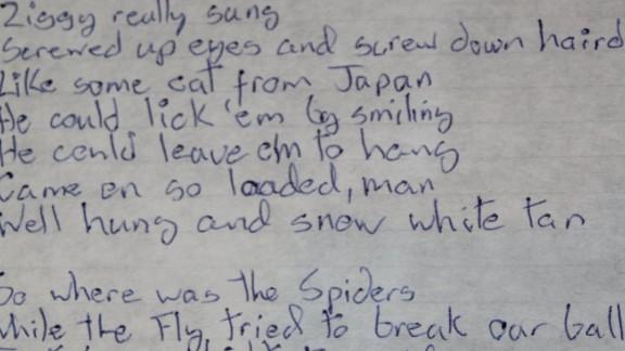 "These lyrics for ""Ziggy Stardust"" introduce Bowie"
