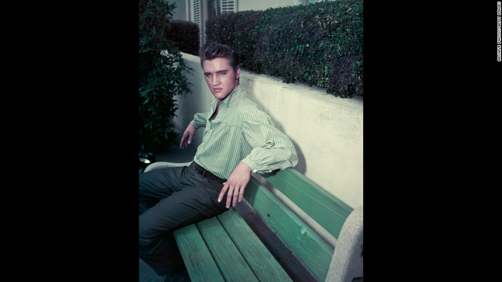 Elvis Presley's rock 'n' roll reign as a heartthrob had an edge of the risque. Seen here about 1957, Presley stole the hearts of fans on stage and on screen, no doubt in part because of those swiveling hips.