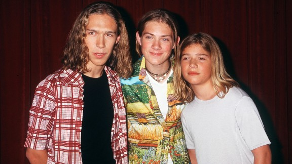 """With their long hair and wholesome approachability, the Hanson brothers who formed this music trio -- from left, Isaac, Taylor and Zac -- """"MMMbop""""-ed their way into the pantheon of teen heartthrobs in 1997."""
