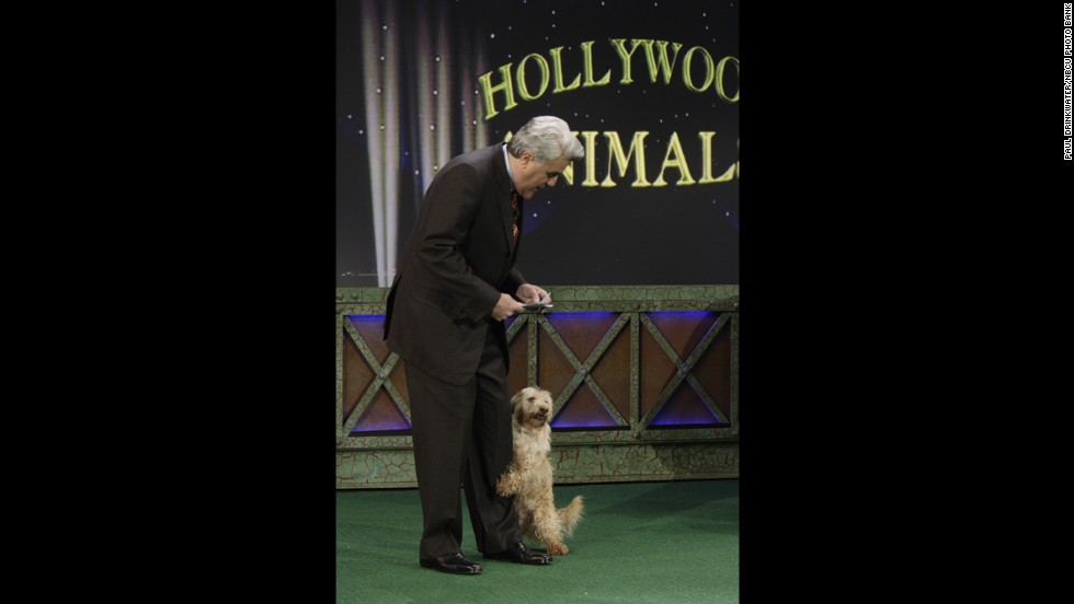 Leno hosts the Hollywood Animals segment on February 28, 2007.