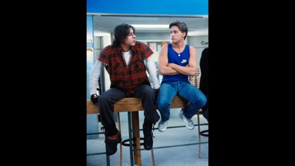 Along with Lowe, Judd Nelson, left, and Emilio Estevez were two members of Hollywood
