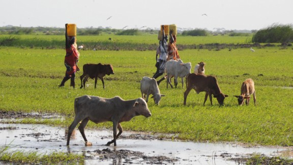Women in Kenya's Tana River delta, where there have been tensions over land and water access.