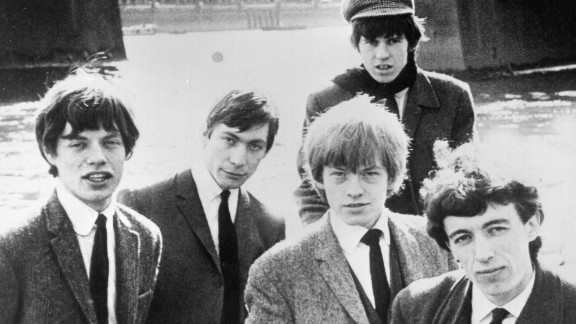The young band pose for a portrait in a boat, 1964. From left to right are: Mick Jagger, Charlie Watts, Brian Jones, Keith Richards and Bill Wyman. Bassist Wyman joined the Stones in 1962 before leaving in 1993.