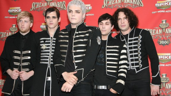 """The band My Chemical Romance pose in the press room for Spike TV's """"Scream Awards 2006"""" in Los Angeles."""