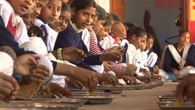 India's 'food factory' feeds children
