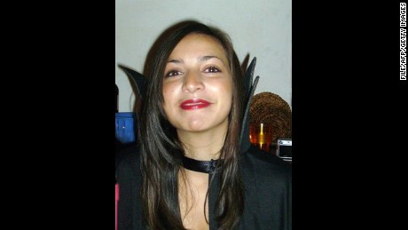 An undated picture of murdered British exchange student Meredith Kercher in Perugia, Italy.