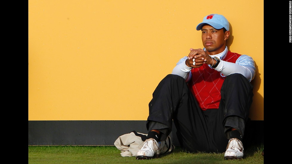 b4257d15 In October 2010, Woods appears dejected after losing a match to Lee  Westwood and Luke