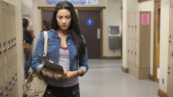 "A major storyline in ""Pretty Little Liars"" was the discovery by Emily (Shay Mitchell) of her sexuality and her coming out to her family."