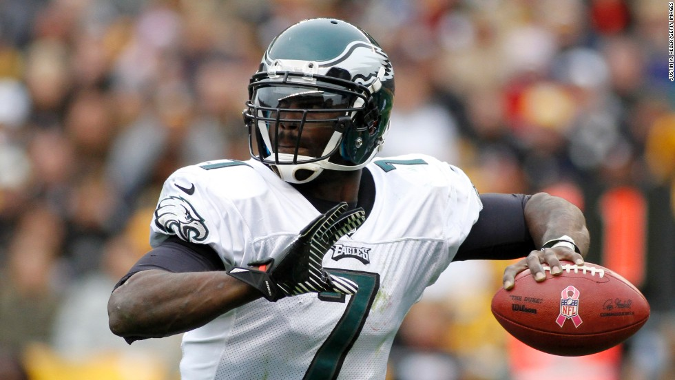 Quarterback Michael Vick was convicted of dog fighting charges in 2007, forcing him to declare bankruptcy. The Atlanta Falcons also dropped him. After serving 20 months of a federal prison sentence, Vick joined the Philadelphia Eagles in 2009 and became the starting quarterback in 2010. Vick also became an activist against animal fighting, backing a bill in 2011 that would criminalize spectators and others who organize the fighting.