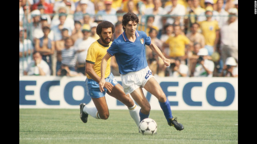 Italian striker Paolo Rossi was banned from soccer for three years after being found to be involved in a match-fixing scandal while playing for Perugia in 1980. He protested his innocence and his ban was reduced to a year, enabling him to come back to the game for the 1982 World Cup. Rossi scored six goals to become the tournament's top scorer and lead Italy to the world title.