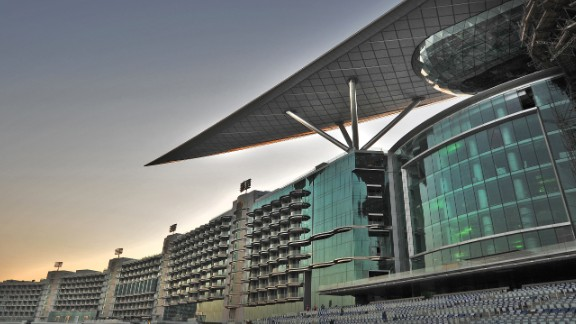 The track's 10-storey hotel boasts 285 luxury rooms, roof-top infinity pool, ballroom and five restaurants. It's intended to be a year-round conference center outside the racing season.