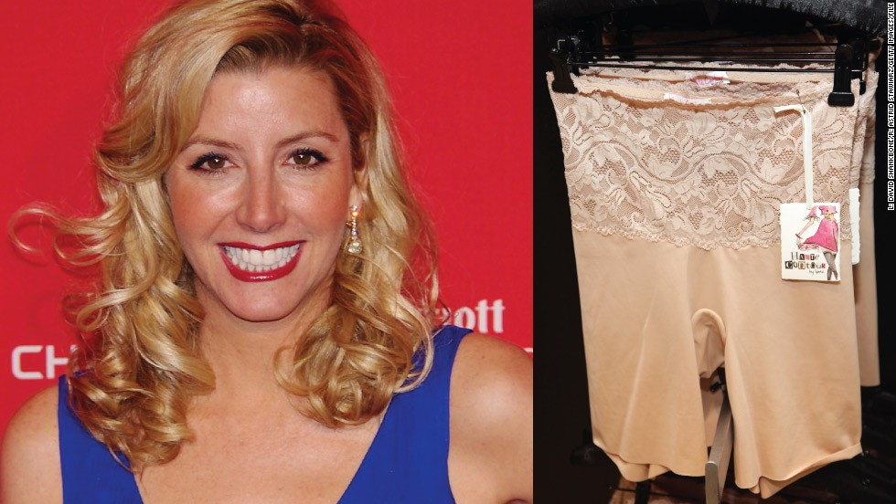 "<strong>Sara Blakely (1971- )</strong><br /><em>Spanx underwear</em><br />Started: 1998<br /><br />Sara Blakely was working as a sales trainer by day and a stand-up comedienne at night before she started Spanx. She had no business training and knew nothing about the underwear industry, except that she didn't like the way her bum looked in white pants.<br /><br />So, at the age of 29, <a href=""/2012/12/04/business/sara-blakely-spanx-underwear/index.html"" target=""_blank"">Blakely used her $5,000 savings</a> to develop a line of shapewear to make women look slimmer. The result: her company, Atlanta-based Spanx, became one of the best selling body shaper lines worldwide, with 2011 sales estimated at $250 million dollars and an <a href=""http://edition.cnn.com/video/#/video/business/2012/03/09/nr-spanx-founder-billionaire-list.cnn"">estimated corporate value of $1 billion</a>."