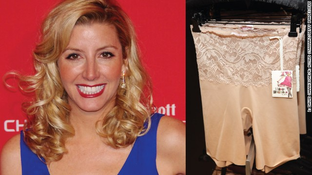 Sara Blakely (1971- ) Spanx underwear Started: 1998 Sara Blakely was working as a sales trainer by day and a stand-up comedienne at night before she started Spanx. She had no business training and knew nothing about the underwear industry, except that she didn't like the way her butt looked in white pants. So, at the age of 29, Blakely used her $5,000 savings to develop a line of shapewear to make women look slimmer. The result: her company, Atlanta-based Spanx, became one of the best selling body shaper lines worldwide, with 2011 sales estimated at $250 million dollars and an estimated corporate value of $1 billion.