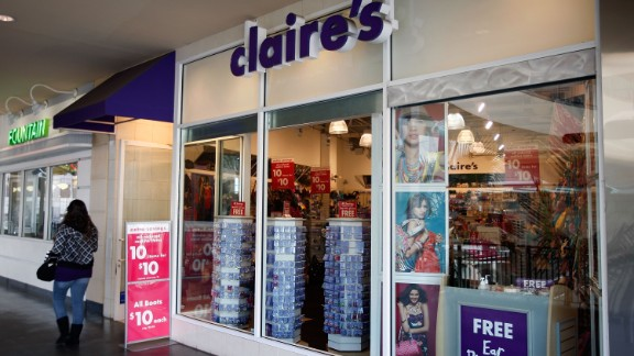 There are more than 3,000 Claire's stores in North America, Europe and China, according to the company's website.