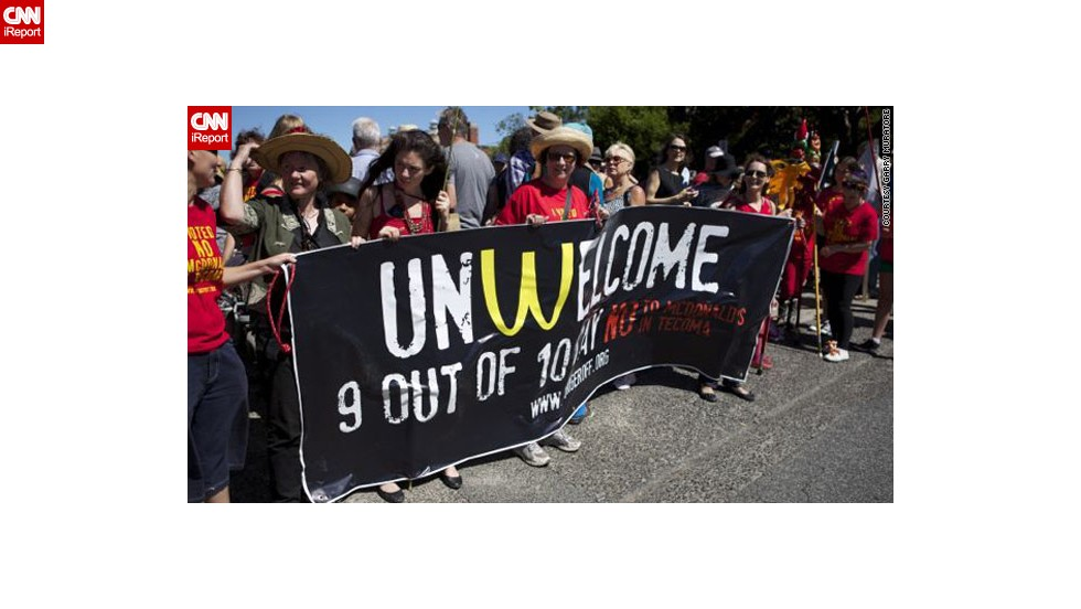"A proposal by McDonald's to open a restaurant in the town of Tecoma near Melbourne, Australia, has sparked protests, as seen in <a href=""http://ireport.cnn.com/docs/DOC-948093"">these images</a> by iReporter and campaigner Garry Muratore."