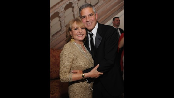 Walters knows celebs like no one else. She and George Clooney attended the Bloomberg & Vanity Fair cocktail reception after the 2012 White House Correspondents' Association Dinner at the residence of the French ambassador in Washington.