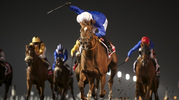 """""""There's no gambling allowed here in the Middle East in Dubai, it's against the law and it's against the religion,"""" said Simon Crisford, manager at Godolphin Stables. """"It's all about the competition, the spirit of horse racing here is not about the betting."""""""