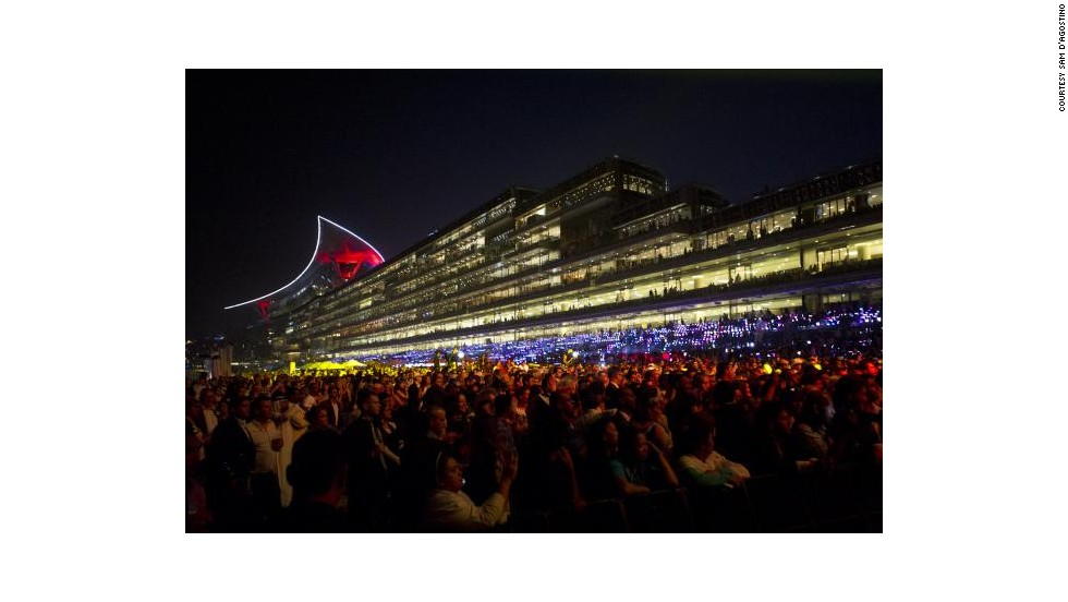 """It's like Old Trafford, the Emirates and Wembley all rolled into one. When they turn the lights on it looks like a spaceship from 'Star Wars,'"" said champion Italian jockey Frankie Dettori. <br />"