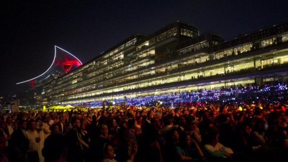 """""""It's like Old Trafford, the Emirates and Wembley all rolled into one. When they turn the lights on it looks like a spaceship from 'Star Wars,'"""" said champion Italian jockey Frankie Dettori."""