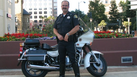 San Jose police Officer John Cahill in 2006. His death led his father, Brian, to become a police suicide prevention trainer.
