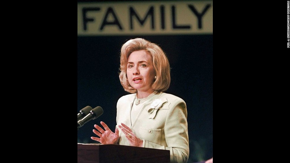 "In response to presidential candidate Jerry Brown's charge that then-Arkansas Gov. Bill Clinton was funneling state funds through his wife's law firm, Hillary Clinton replied: ""I suppose I could have stayed home and baked cookies and had teas, but what I decided to do was to fulfill my profession, which I entered before my husband was in public life.""<br /><br />The 1992 campaign trail quote not only pegged Hillary as a feminist but also led to a cookie recipe competition that has lasted through subsequent presidential elections."