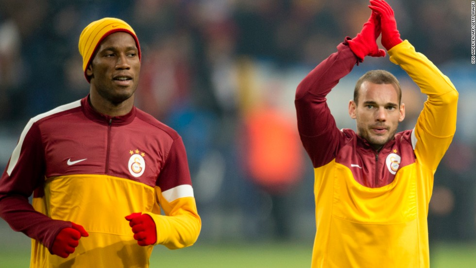Turkish champions Galatasaray move up three places from the 2013 list after revenue rose to $212.6 million. The Istanbul-based outfit have Ivory Coast striker Didier Drogba and Dutch playmaker Wesley Sneijder in their ranks and will face Chelsea -- with whom Drogba won the 2012 European Champions League crown -- in the last 16 of the competition.