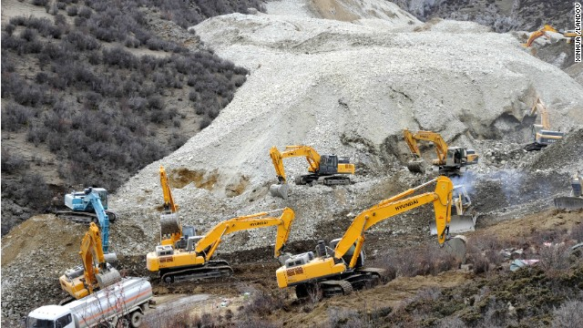 A landslide buried 83 workers at a gold mine in the Tibet Autonomous Region.