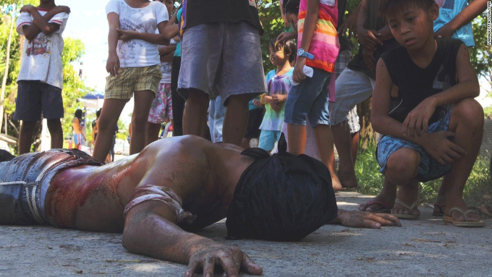 "Up to 5,000 men have chosen to participate in the Good Friday celebration as penitents. Jimmy Lazatin, city councilor who co-organizes the event, says the men have different reasons for their actions. For some, it's their faith. For others, it's ""macho"" entertainment. <br />"