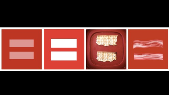 The many variations of the pink equal sign on top of a red background populated many Facebook profile pics this week.
