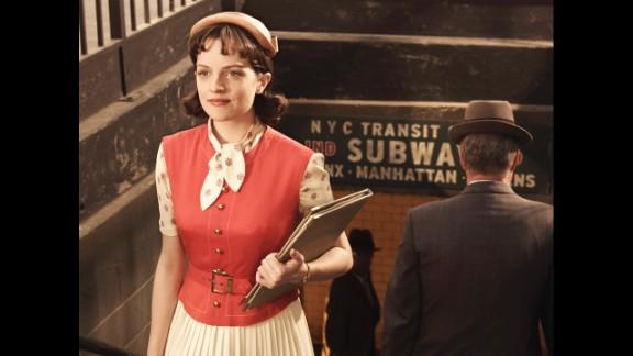 Peggy takes public transportation in season 3.