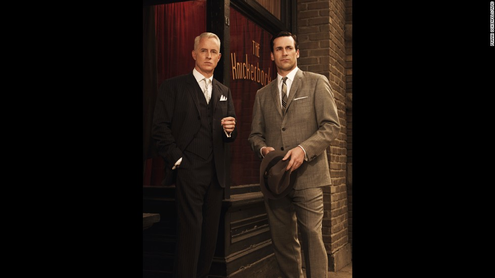 "Roger and Don in season 3 of ""Mad Men,"" set in 1963."